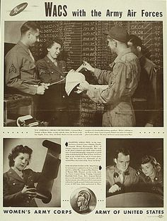 Wacs in the army air corps