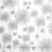 Nature's Pearl - Dandelion Shadow White Pearlized Yardage - Kanvas Studios - Kanvas Studios — Missouri Star Quilt Co.