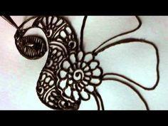 Mehndi - henna - How to draw a peacock in henna/mehndi - #henna   #medhndi