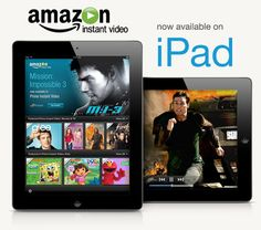 Amazon Instant Video now on iPad  Awesome!!  Amazon has it all.....