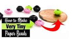How to Make Small Micro Paper Beads Make Paper Beads, Paper Bead Jewelry, How To Make Paper, How To Make Beads, Free Paper, Diy Paper, Paper Crafts, Bead Crafts, Diy Crafts