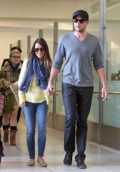 Lea Michele and Cory Montieth