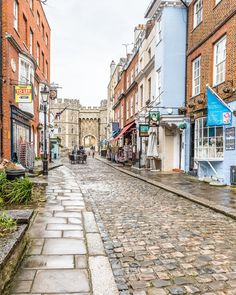 A lovely street in Windsor, England looking down toward Windsor Castle at the end. #windsor #windsorcastle #england