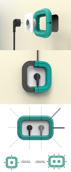 This world has seen so many good switchboard design concepts that never saw the light of day. It's funny how we're still stuck with these problematic switches, plugs, and cords. The Loop, luckily can take care of one of those problems. Cable management. Plug Board Design YankoDesign #Swagnologies