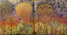 Enchanted Forest coloring book; Johanna Basford