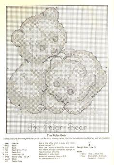 Schema punto croce Orsi Bianchi 02