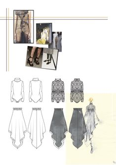 Fashion Sketchbook - fashion design drawings; fashion portfolio // Florence Bourne Orme