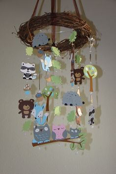 Blue and boyish Woodland Critter Forest Animal by magicalwhimsy, $80.00