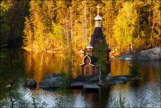 Церковь Андрея Первозванного на реке Вуоксе. Ленинградская область.