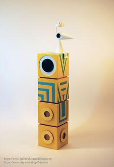 Totem with Crow Ida. Monument Valley Game figures. by ddpatron on DeviantArt