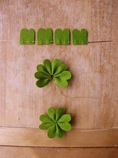 Felt clover #hand made #creative handmade #diy gifts #diy decorating ideas