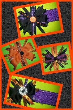 Halloween hair bows
