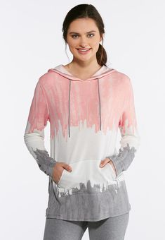 00efb68f9d4 Tie Dye French Terry  Hoodie Tops Cato Fashions  catoconfident French Terry