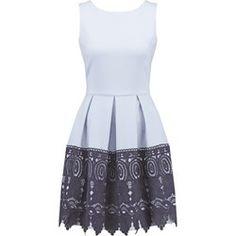 Closet Sukienka koktajlowa pale blue/navy border