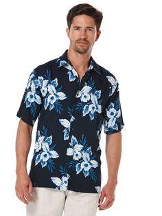 #FashionVault #perry ellis #Men #Tops - Check this : Cubavera Big & Tall Short Sleeve Allover Floral Print for $49.99 USD