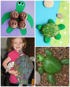 Here are some adorable turtle crafts for the kids to make! I remember growing up and finding an empty turtle shell in my backyard so of course I brought it to show and tell haha! Just click on the links below the photos to get step by step instructions. Handprint Turtles Seashell Turtles Weaving Baby …