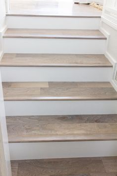 Wood trim option for stairs instead of caulk