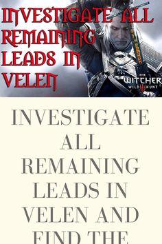 Investigate All Remaining Leads In Velen : investigate, remaining, leads, velen, Investigate, Remaining, Leads, Velen, Baron's