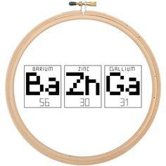 Bazinga Big Bang Theory Cross Stitch