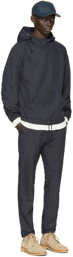 Nanamica: Navy Anorak Jacket | SSENSE
