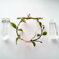Lime Green Painted Twig Bracelet, by CraneGoose on Etsy