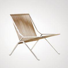 Poul Kjærholm; #PK 25 Steel and Flag Halyard Lounge Chair for Kold Christensen, 1951.
