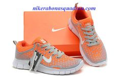 Nike Free 6.0 Womens Grey Orange Running Shoes