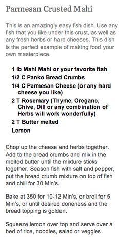 parmesan crusted mahi mahi