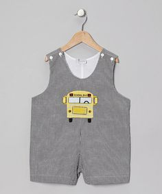 Take a look at this Black School Bus Shortalls - Infant, Toddler & Boys by Sweet Dreams on #zulily today!