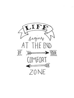 Life Begins at the End of Your Comfort Zone - Instant Download by RiverFallsCollective on Etsy