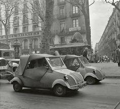 The Ramblas 1950s Barcelona, Catalonia.