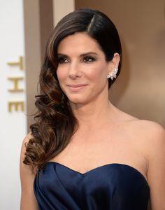 Sandra Bullock Hair and Makeup at Oscars 2014 | POPSUGAR Beauty