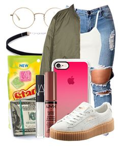 """""""Basketball Game Is The Move // Lauren"""" by real0ne ❤ liked on Polyvore featuring Carbon & Hyde, The Row, River Island, H&M, Casetify, NYX, Puma and NARS Cosmetics"""