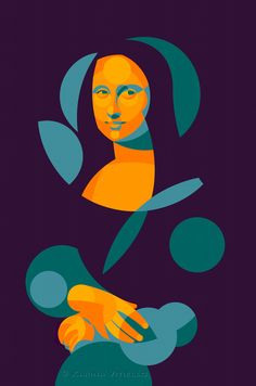 MONA LISA 2013 extra-fine Acrylic on linen matte and glossy lacquer selective cm All rights reserved copyright © Karina Vitiello - - Digital Illustration, Graphic Illustration, Illustrations, Arte Pop, Pop Art, Mona Lisa Parody, Mona Lisa Smile, Grafik Design, Art Plastique