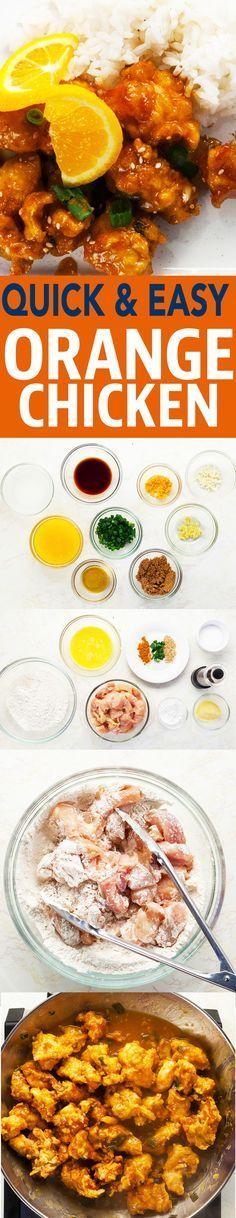 Delicious orange chicken recipe! #recipe