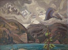 Arthur Lismer - Lake O'Hara Canadian Rockies 12 x 16 Oil on board Canadian Rockies, Oil, Board, Painting, Painting Art, Paintings, Draw, Sign, Cooking Oil