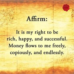 How likely are you to become a millionaire? Take this short quiz to find out. by Law Of Attraction Expert Prosperity Affirmations, Money Affirmations, Positive Thoughts, Positive Quotes, Positive Vibes, Positive Affirmations Quotes, Mantra, Law Of Attraction Affirmations, Affirmation Quotes