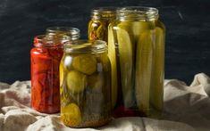 🍴Sidagesntinas: Ο πιο γρήγορος τρόπος να κάνετε τουρσί Saveur, Pickles, Cucumber, Chili, Food, Ajouter, Glass, Vinegar, Mint