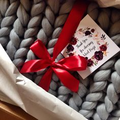 "Chunky Knit Blanket by Wool Hugs 40""x60"" $240 Order now at wool-hugs.com"