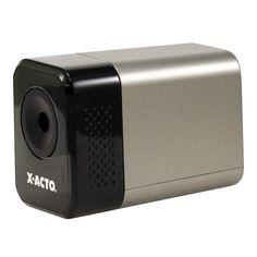X-Acto 1800 Series Desktop Electric Pencil Sharpener, Putty, Silver/Black