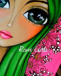 Romi Lerda Art (@romi_lerda_art) | Instagram photos and videos Block Painting, Painting For Kids, Art Handouts, Frida Art, Buddha Painting, Artwork Display, Botanical Drawings, Acrylic Art, Face Art