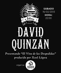 David Quinzán @ La Fábrica - Allariz (Ourense) música concerto concierto