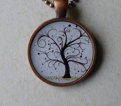 Copper Whimsey Tree Necklace by Dizzybows on Etsy, $10.00