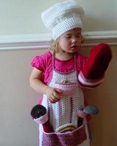 Picture of Cooking Katie Chef Set Crochet Pattern