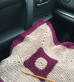 Crocheting in the car!