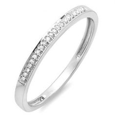 Share for $20 off your purchase of $100 or more! 0.08 Carat (ctw) 18K White Gold…
