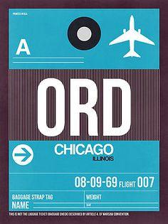 Naxart Studio - Chicago Luggage Poster 1
