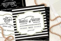 striped formal wedding invitations For this design email: olivesdesigns2@gmail.com