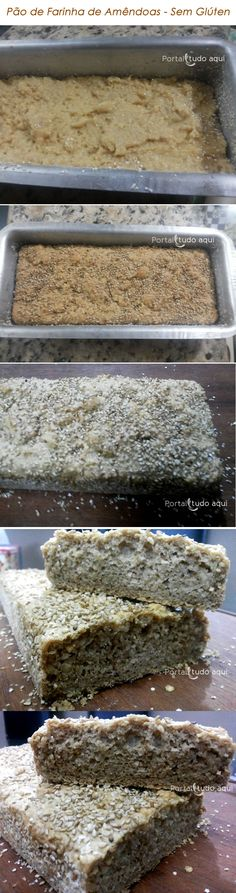 Aprenda a fazer um pão de farinha de amêndoas sem glúten, sem lactose, sem açúcar que fica uma delícia e é ideal para uma dieta saudável!