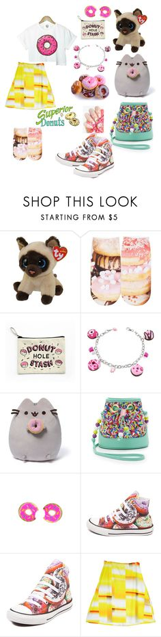 """""""🍩🍩🍩"""" by treelights29 ❤ liked on Polyvore featuring Free Press, Dolci Gioie, Gund, Boutique Moschino and Converse"""